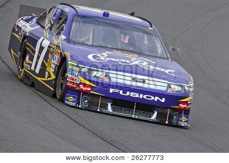 LOUDON, NH - SEP 18:  Matt Kenseth brings his Crown Royal Ford through the turns during practice for the Sylvania 300 race at the New Hampshire Motor Speedway in Loudon, NH on Sept 18, 2010