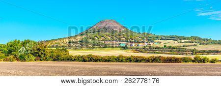 Oblik Hill In The Middle Of Ceske Stredohori, Aka Central Bohemian Highlands. Landscape With Typical