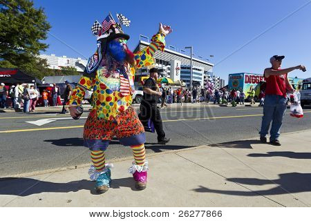 CONCORD, NC - OCT 16:  Fans enjoy the festivities before the Bank of America 400 race at the Charlotte Motor Speedway in Concord, NC on Oct 16, 2010.