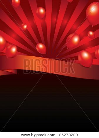 Background With Sunbeam And Balloons