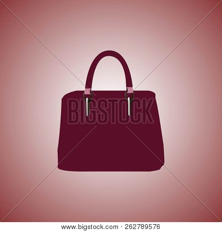 5062416e54 Woman Bag. Ladies Handbag Isolated On Red Background.