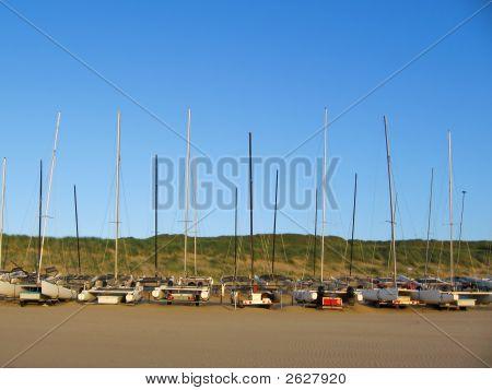 Yachts On The Beach