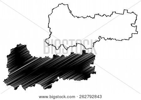 Vologda Oblast (russia, Subjects Of The Russian Federation, Oblasts Of Russia) Map Vector Illustrati