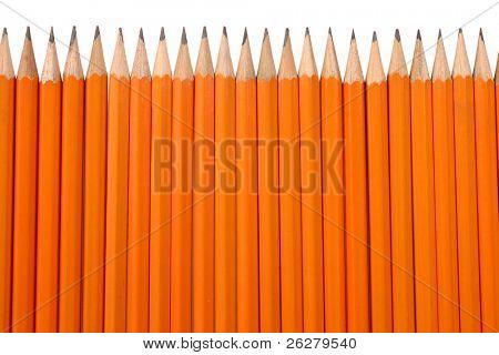 Orange pencils poster