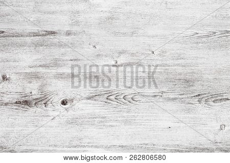 Grunge White Wood Texture. Light Wooden Table Surface. Shabby Chic Background