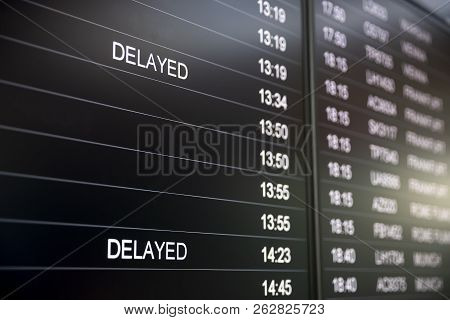 Boarding Time Monitor Screens - Timetable Boards. Arrivals And Departures Monitors To Check The Stat
