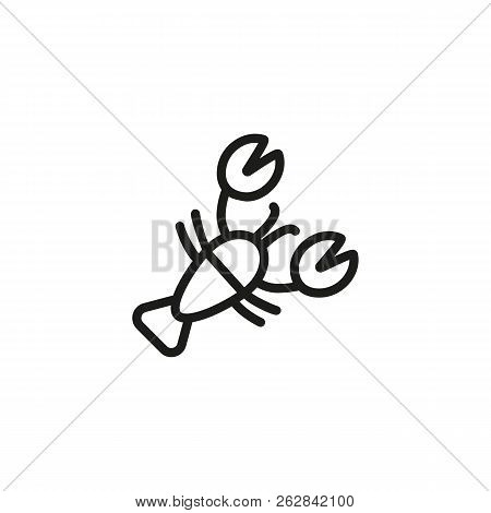 Lobster line icon. Crustacean, cancer, scallop. Seafood concept. Can be used for topics like shellfish, cuisine, restaurant, menu design poster