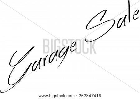 Garage Sale Text Sign Illustration