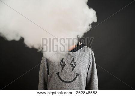 Smoke Enveloped The Head Man. Secondhand Smoke.