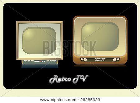 couple of retro tvset