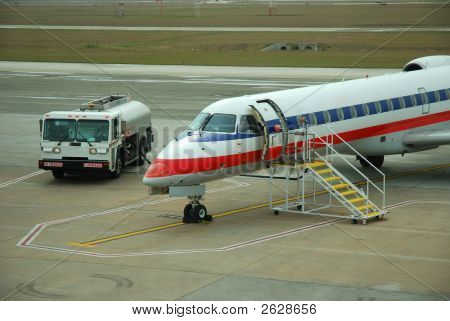 Regional Jet At The Airport