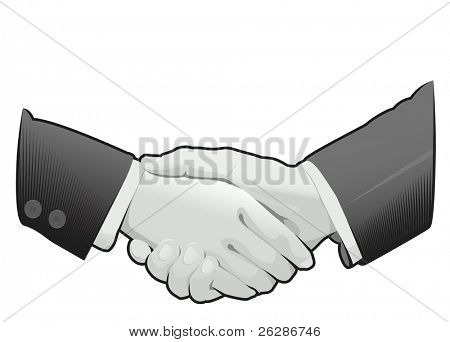 shaking hands over the deal