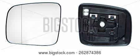 Car Rear View Mirror Glass, Spare Part Glass Reflection Part With Heating Front View And Rear View O