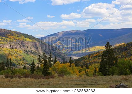 Beautiful Fall Foliage In Historic Silverton In Colorado