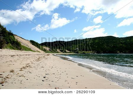 Sandy Cove Beach in rural Newfoundland