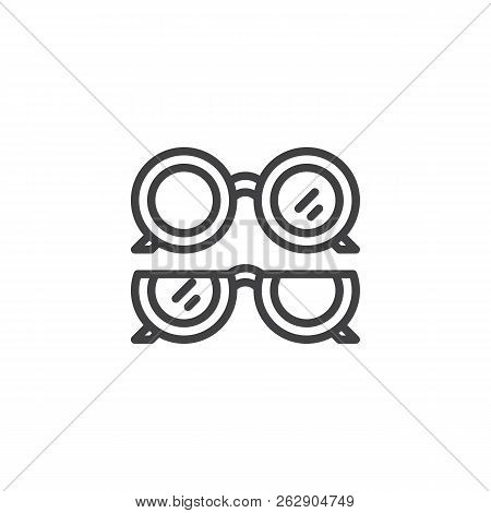 Optical Eye Glasses Outline Icon. Linear Style Sign For Mobile Concept And Web Design. Ophthalmology