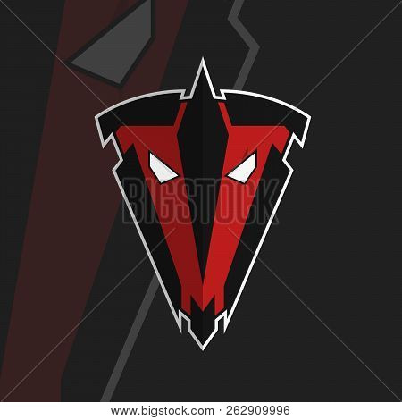 Tv Letters In Logo. Eyes With Scar. Face Plus Shield Design. Face And Helmet Brand Logo. Red Face. B