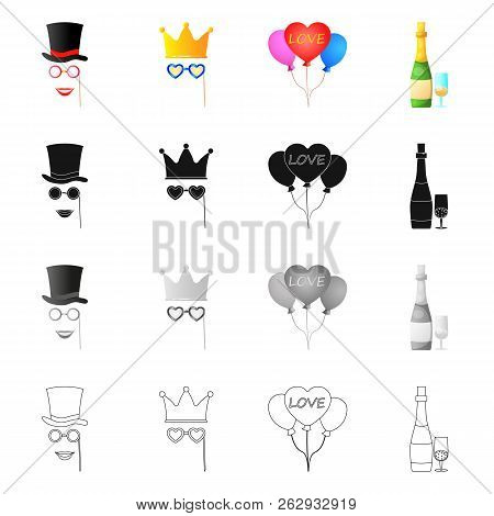 Isolated Object Of Party And Birthday Icon. Collection Of Party And Celebration Stock Vector Illustr
