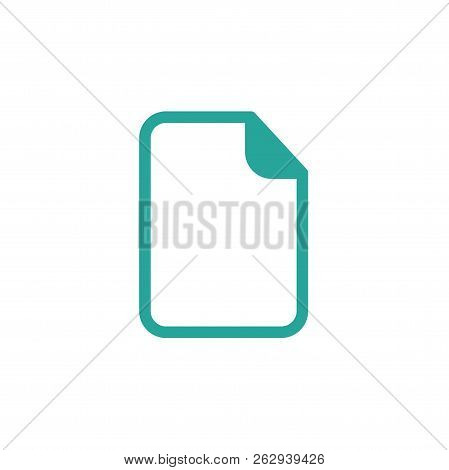 Blue Rounded Document Sheet Icon. Isolated On White. Upload Document Icon. Upgrade Sign.