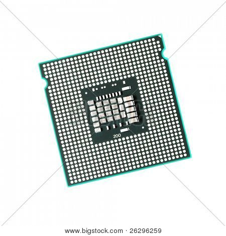 Computer CPU isolated on pure white background