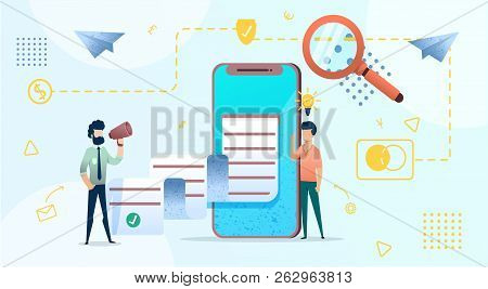 Business Illustration Concept For Website Or Mobile People Send Resume For A Job, Or Copywriting , S