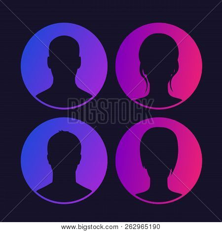 Avatars, Default Photo Placeholder, Profile Picture Set, Eps 10 File, Easy To Edit
