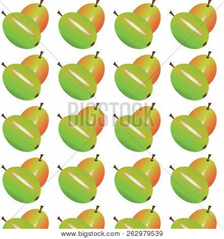 Gooseberry Berries. Vector Illustration It Is Maybe Used For Any Professional Project