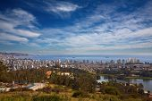 view on Vina del Mar and Valparaiso, Chile poster
