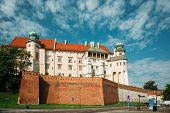 Krakow, Poland. Wawel Castle In Summer Day. Famous Landmark. UNESCO World Heritage Site. Fortified Architectural Complex In Cracow, Poland. poster