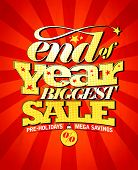 End of year biggest sale design, raster version poster