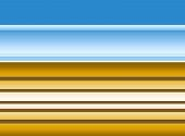 Yellow horizontal stripes on graduated blue background poster