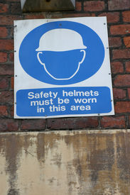 Safety Helments Sign