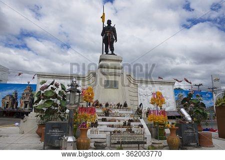 Surin, Thailand - November 16, 2013: Monument To The Founder Of Surin City Phaya Surin Phakdi Si Nar