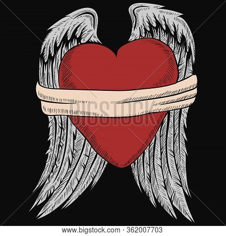 Bound Heart Vector Illustration For Your Company Or Brand