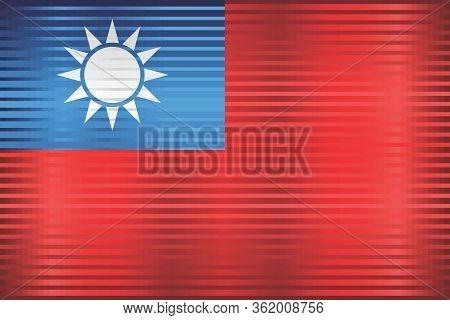 Shiny Grunge Flag Of The Taiwan - Illustration,  Three Dimensional Flag Of Taiwan
