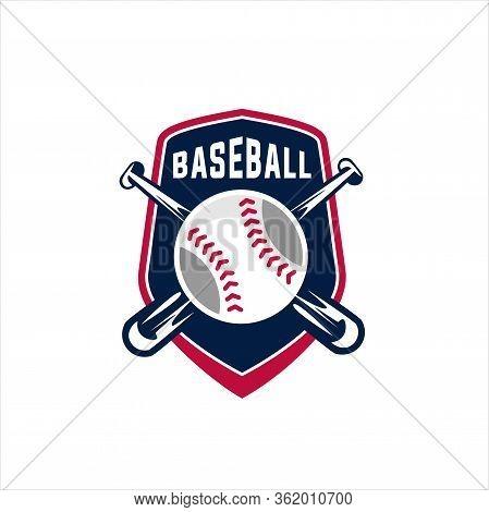 Logo Baseball Club. Sport Emblem In Vector Style. Baseball Emblem Club, Sport Game Logo For Tourname