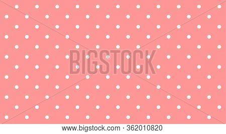 Polka Dot White On Pink Pastel Soft Background, Pink Pastel Simple With Polka Dot White Small Patter
