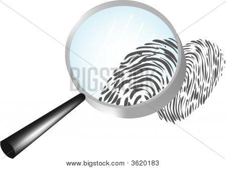 Magnificar una huella dactilar