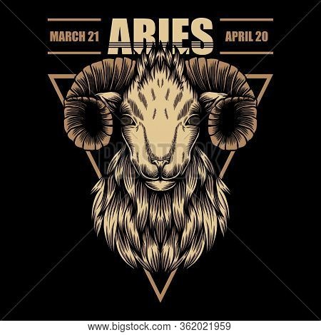 Aries Zodiac Vector Illustration For Your Company Or Brand