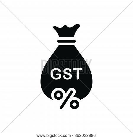 Black Solid Icon For Gst Exemption Save Tax