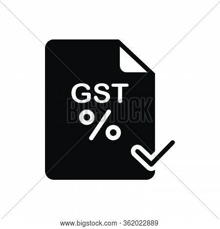 Black Solid Icon For Gst Paid Audit Save Exemption