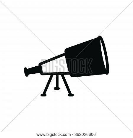 Black Solid Icon For Discover Discovery Telescope Idea