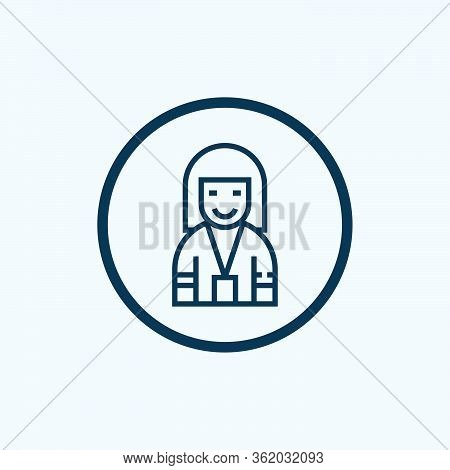 Clerk Icon Vector From Food Delivery Collection. Thin Line Clerk Outline Icon Vector Illustration. L