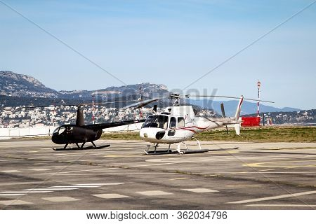 A Helicopter On, Over The Helipad, Only Ever Carries A Few Passengers