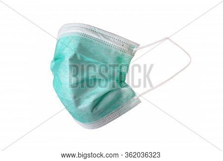 Medical Mask Isolated On White Background. Medical Mask!