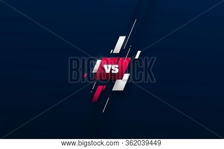 Sport Versus Logo Vs Letters For Sports And Fight Competition. Mma, Battle, Vs Match, Game Concept C
