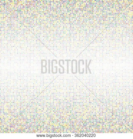 Abstract Colourful Alphabet Ornament Border Isolated On White Background. Vector Illustration For Ed