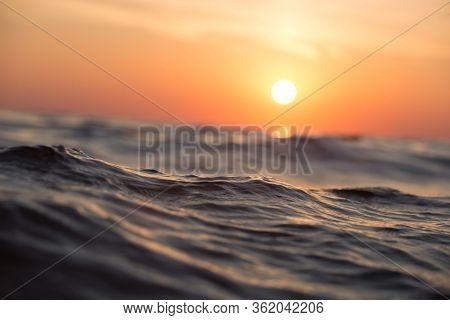 Sunrise Over The Sea And Beautiful Cloudscape.