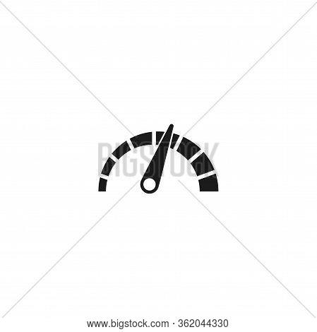 Tachometer Vector Icon . Lorem Ipsum Illustration Design
