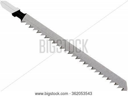 Blade For Jigsaw (power Tool) For A Jigsaw For Wood Silver Color Isolated On A White Background